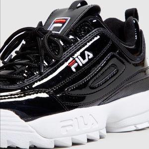 Fila Shoes | Shiny Black Fila Disruptor